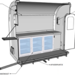 Bar eco trailer binnenkant 3D - Multiwagon