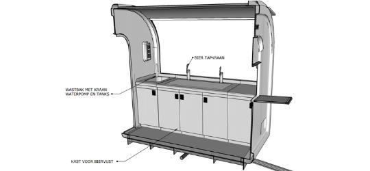 Bar eco trailer werkbank 3D - Multiwagon