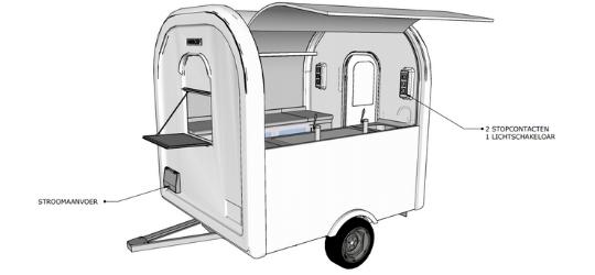 Bar eco trailer elektriciteit 3D - Multiwagon