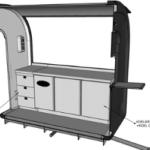 Keuken eco trailer werkbank 3D - Multiwagon