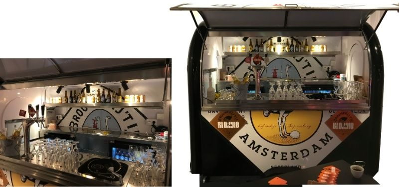 Mobiele bar trailer Brouwerij 't IJ - Multiwagon