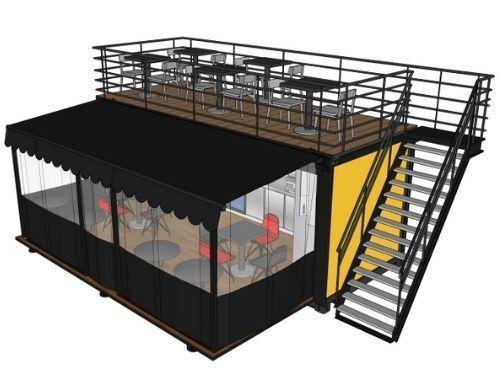 3D dakterras Pop-Up Container - Multiwagon