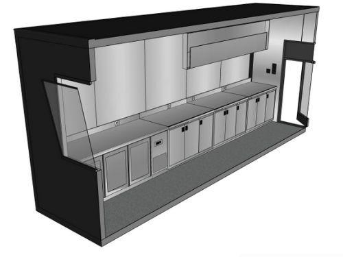 3D binnenkant Pop-Up Container mobiele keuken - Multiwagon