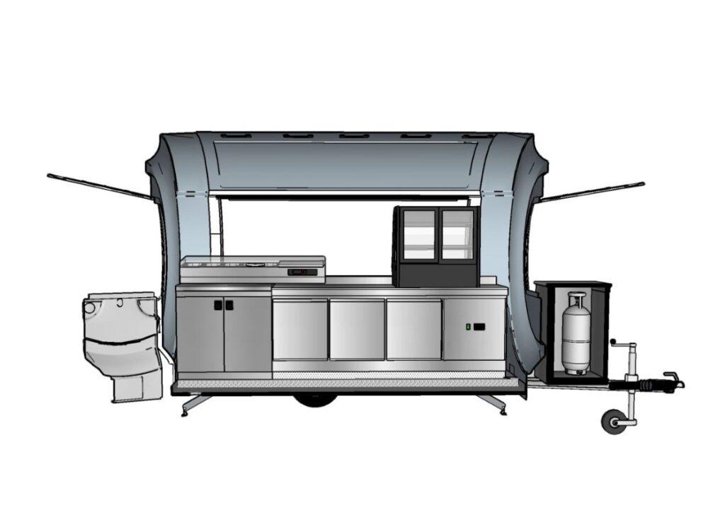 Frietwagen kopen mobiele snackbar - Multiwagon