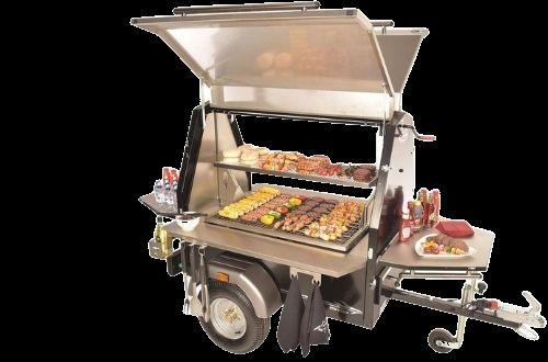 350 Club Charcoal Grill BBQ Trailer