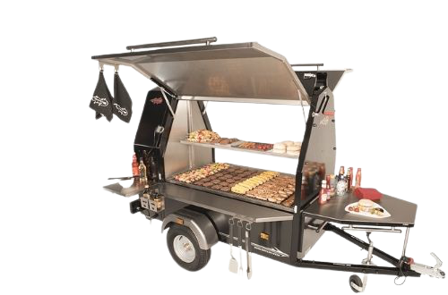 600s Grillmaster BBQ Charcoal Grill Trailer