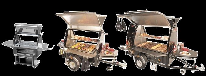 Mobiele barbecue's van Multiwagon