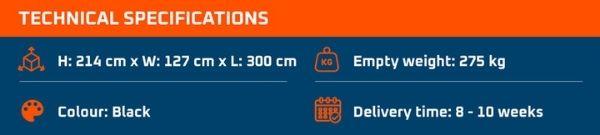 Technische Specificaties 600s Grillmaster BBQ Trailer