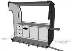 Mobiele keuken trailer - Multiwagon