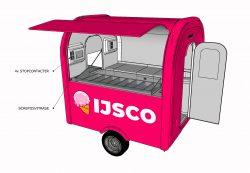 Ijswagen ijsvitrine 3D - Multiwagon